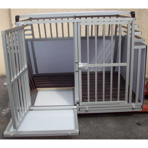 cage de transport double pour chiens type intervention. Black Bedroom Furniture Sets. Home Design Ideas
