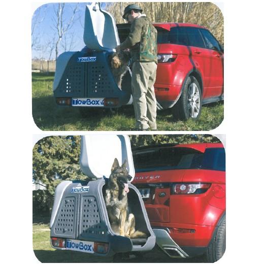 promotion TowBox Dog v2 - cage de transport sur attelage.
