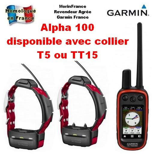 garmin alpha 100 collier de rep rage gps pour chien de. Black Bedroom Furniture Sets. Home Design Ideas