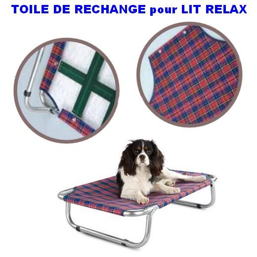 toile de rechange pour lit pliant relax place animalerie. Black Bedroom Furniture Sets. Home Design Ideas