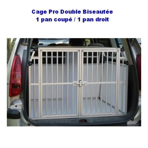 cage de transport dogbox pro double biseautee 2 chiens pour le voyage en voiture train ou en. Black Bedroom Furniture Sets. Home Design Ideas
