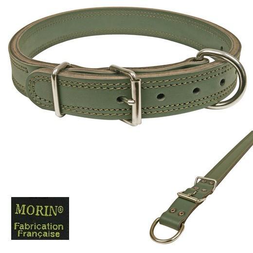 collier couleur arm e pour chien militaire sellerie cuir laisses colliers museli res. Black Bedroom Furniture Sets. Home Design Ideas