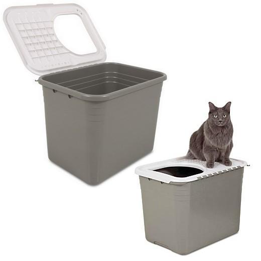 Bac liti re pour chat top entry litter pan caisse - Caisse a chat ...