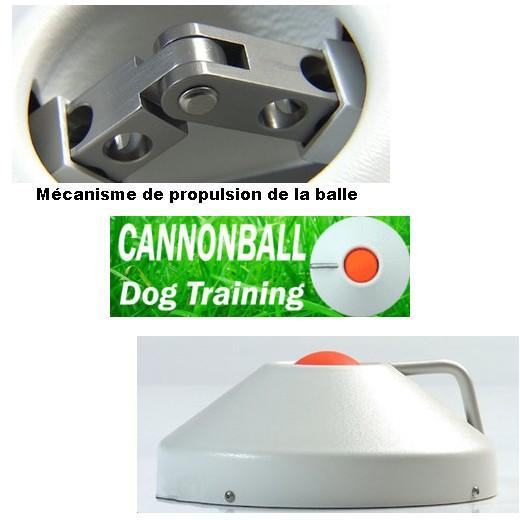 Lanceur de balle cannonball balles et ballons jouet pour chiens - Lanceur de balle pour chien automatique ...