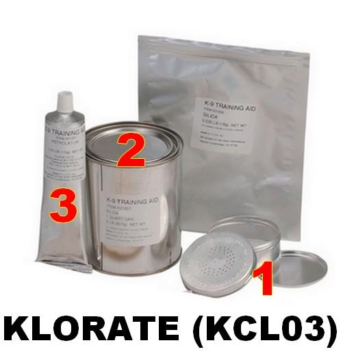 Simulants d'entrainement à la détection explosif - KLORATE (KCL03) - XM K-9