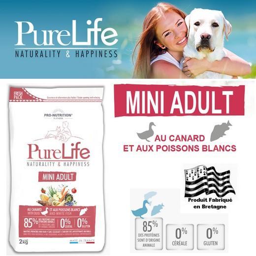 croquettes purelife alimentation pour chien mini adulte. Black Bedroom Furniture Sets. Home Design Ideas