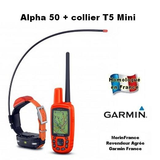 garmin alpha 50 avec collier t5 min pour rep rage gps. Black Bedroom Furniture Sets. Home Design Ideas