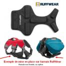 Brush Guard - Protection de poitrine pour harnais et sac de bat Ruffwear