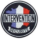Ecusson rond INTERVENTION - SECURITE