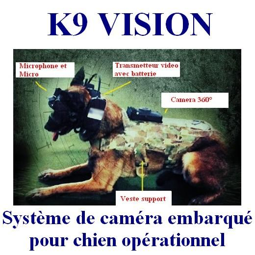 k9 vision cam ra embarqu e cyno cam ra pour chien de s curit arm e et forces de l 39 ordre un. Black Bedroom Furniture Sets. Home Design Ideas