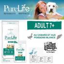 PureLife Adult 7+ - Croquettes pour chiens adulte de 7 ans et +