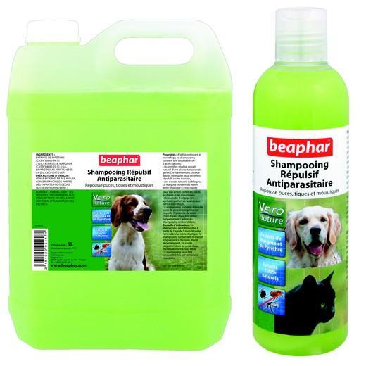Shampooing insectifuge naturel vetonature pour chien et - Repulsif naturel pour chat interieur ...