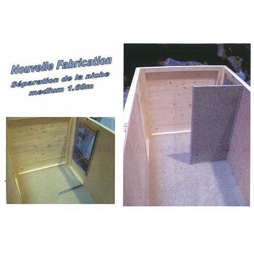Niche bois confort toit plat pour chien niche bois pour - Plan niche pour chat exterieur ...