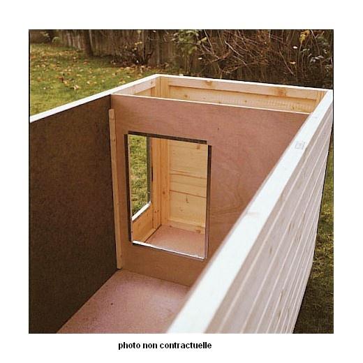 Niche bois confort duo double pan pour chien niche bois - Fabriquer une niche pour chien en palette ...