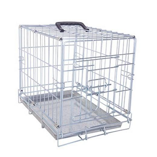 cage de transport m tal pliante pour chien 1 porte. Black Bedroom Furniture Sets. Home Design Ideas