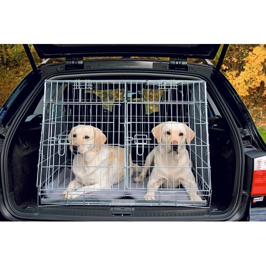 cage de transport m tal pliante double pour chiens caisses de transport m tal morin. Black Bedroom Furniture Sets. Home Design Ideas