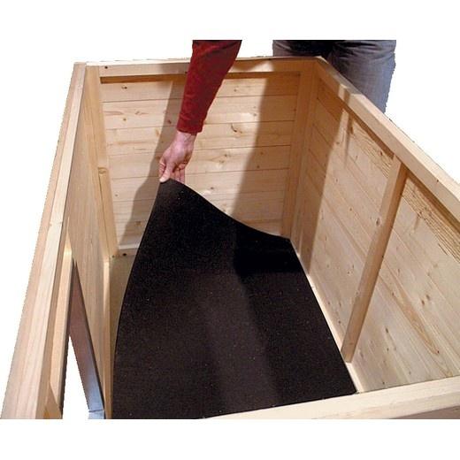 Tapis caoutchouc pour niche bois confort morin - Plan fabrication niche chien ...