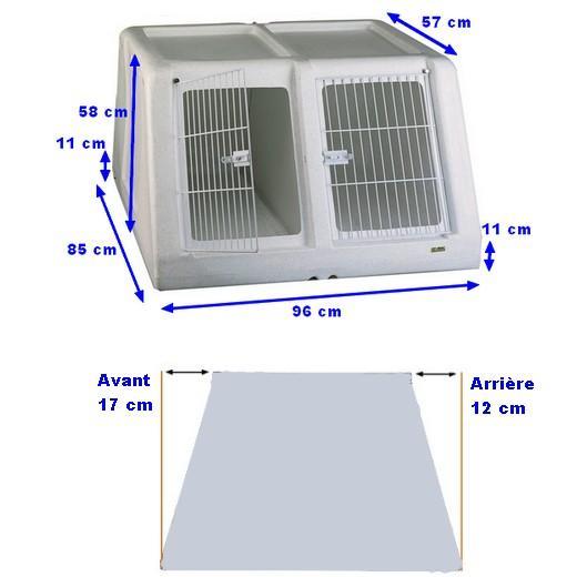 cage de transport autobox plastique double morin caisses et accessoires pour le transport. Black Bedroom Furniture Sets. Home Design Ideas