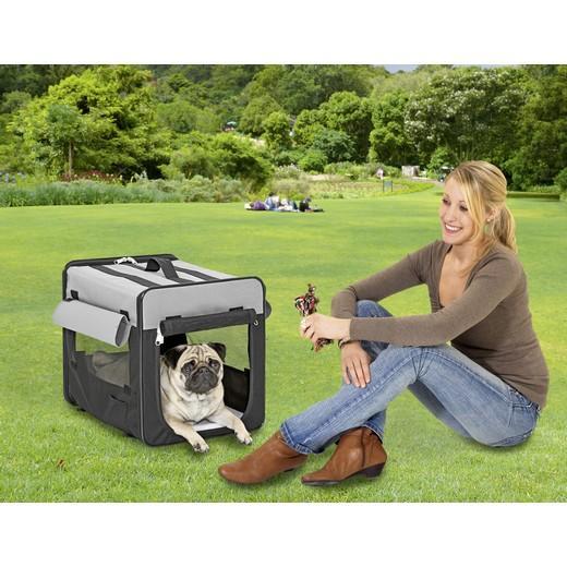 cage de transport pliante en cordura pour chien ou chat smart top caisses de transport pour. Black Bedroom Furniture Sets. Home Design Ideas