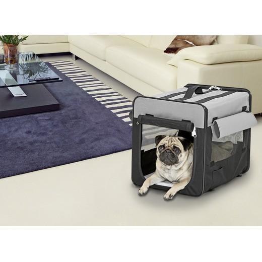 cage de transport pliante en cordura pour chien ou chat - smart