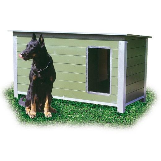 Niche bois army autoclave et d montable pour chien niche - Fabrication niche en bois pour chien ...