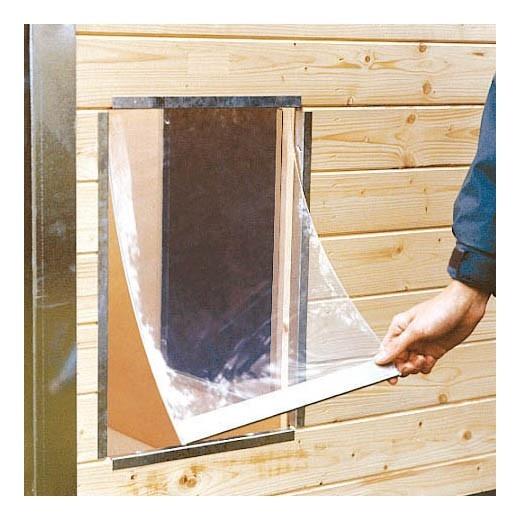 Battant souple pour niche bois confort army cprs pro - Fabriquer une niche pour chien en palette ...